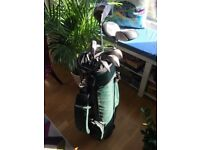 Set of 11 Spalding golf clubs for sale (3 drivers, 1 putter and no. S, P, 3, 4, 5, 6 and 8)