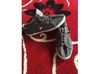 Men's Lyle &a Scott grey canvas shoes size 9