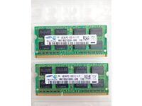 2x Samsung 4GB DDR3 1333MHz Unbuffered SODIMM - 8GB in total (MAC PC Macbook Pro Mini)