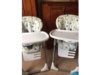 High chair. Joie Baby Mimzy. Two for twins.