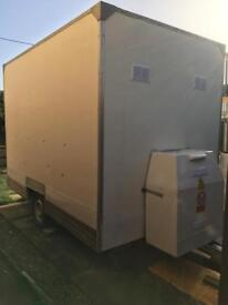 Catering trailer with electric/gas certificate