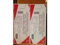 2 x £80 tickets - Anthony Joshua V Joseph Parker