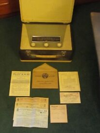 ORIGINAL 1956 'PILOT' RADIO B.M.90 4 VALVE AC/DC MAINS AND BATTERY. IN VERY GOOD CONDITION