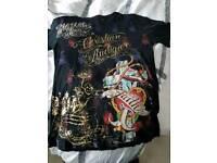Christian Audigier X L Designer T Shirt never worn