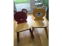 John Lewis children's animal chairs