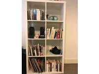 Gloss White Kallax Book Shelf/ Shelving Unit - IKEA