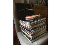 Large Collection of Old Vinyl Records 33's,45's and 78's