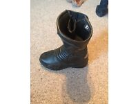 Woman motorbike boots