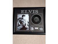 Elvis Presley Framed Picture Disc - Rare
