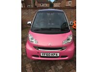 Very limited edition Breast Cancer Pink 2011/60 Smart ForTwo 1.0 Passion mhd, 2 owners, 41,000 miles