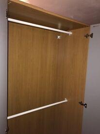Ikea double wardrobe mirrored doors