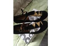 Ladies t bar style shoes size 5