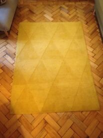Yellow Italian wool rug