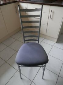 4 kitchen chairs.