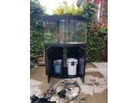 Corner fish tank 190ltr