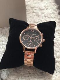 Olivia Burton watch- rose gold plated