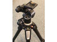 Manfrotto MT055CXPRO4 Carbon Fiber Tripod + Manfrotto 410 Junior Geared Head