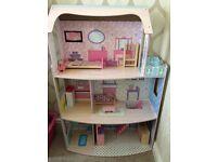 Kids Open Front Dolls House