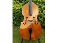 Violin shape 3/4 size double bass