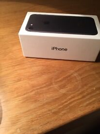 Brand new I Phone 7- 128G -matte black- boxed-locked to ee