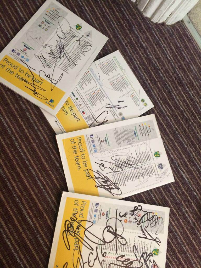 Signed football programs