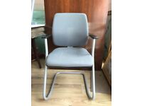 4 AVAILABLE - Office Chair - Grey Office Chair With Grey Legs - Office Furniture