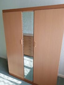Matching Double Wardrobe and 7 Draw Chest