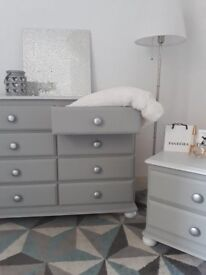 Bedroom Set - Chest of Drawers and Bedside Cabinet
