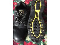 dunlop safety steel toe cap work shoes new