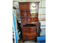 Antique Reproduction mahogany bedside tables