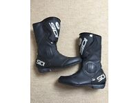 Sidi Black Rain waterproof ladies motorcycle boots Size 5.5
