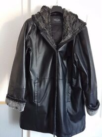 selling womans leather jacket size 22 never been worn cost £150 selling for £50