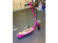Child's pink electric scooter for quick sale