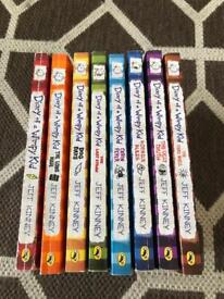 Collection of Diary of wimpy kid books