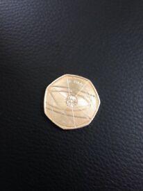 Sir Isaac Newton 50p rare