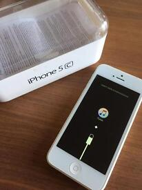 iPhone 5c. With new white screen.