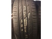 225 50 18 FITTED AND BALANCED BS3 4DN 01179533318 P/WORN GOOD QUALITY USED TYRE BRIDGESTONE TURANZA
