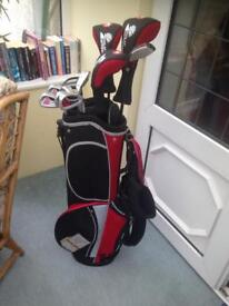 Full set persimmon golf clubs