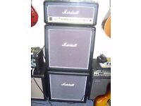 MARSHALL HAZE 15 WATT VALVE AMP AND SPEAKERS