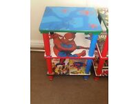 Spiderman shelving unit