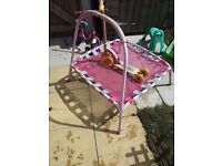 Chikdren small trampoline and scooter