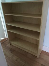 Bookcase - flatpack type made of covered chipboard