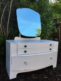 Pretty pastel pink dressing table