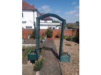 Green Garden Arch Trellis With Side Planters Garden- £20 (OR NEAR OFFER)