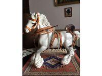 Beswick harnessed horse