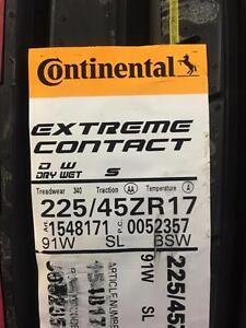 4 Brand New Continental Extreme Contact DW 225/45R17 *** WallToWallTires.com ***