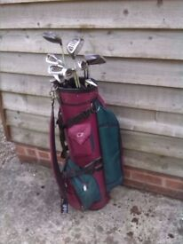 Spalding Pulsar Golf Clubs full set in VGC with bag