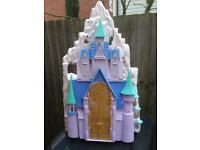 Frozen giant castle and figures