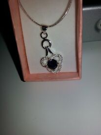 Silver pendant with cz, never worn unwanted gift