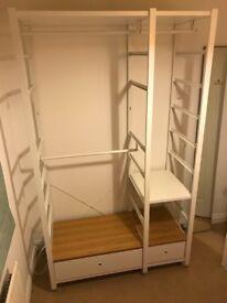 Ikea Wardrobe Elvarli Open Storage System - 7 months old, excellent condition